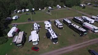 Video drone Camping la Maison Verte en Gaspésie