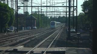 Amtrak Acela Express at Metuchen Station @ high speed