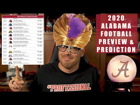 ALABAMA CRIMSON TIDE 2020 COLLEGE FOOTBALL PREVIEW & GAME BY GAME PREDICTION