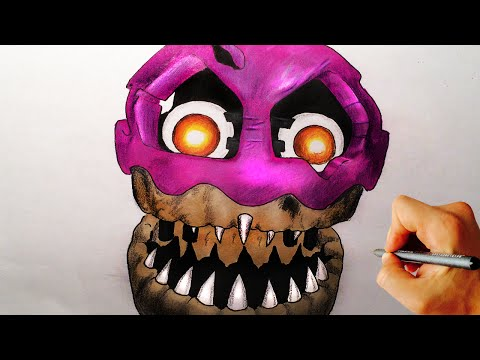 How To Draw Nightmare Cupcake From Five Nights At Freddy's 4 FNaF 4 Drawing Lesson