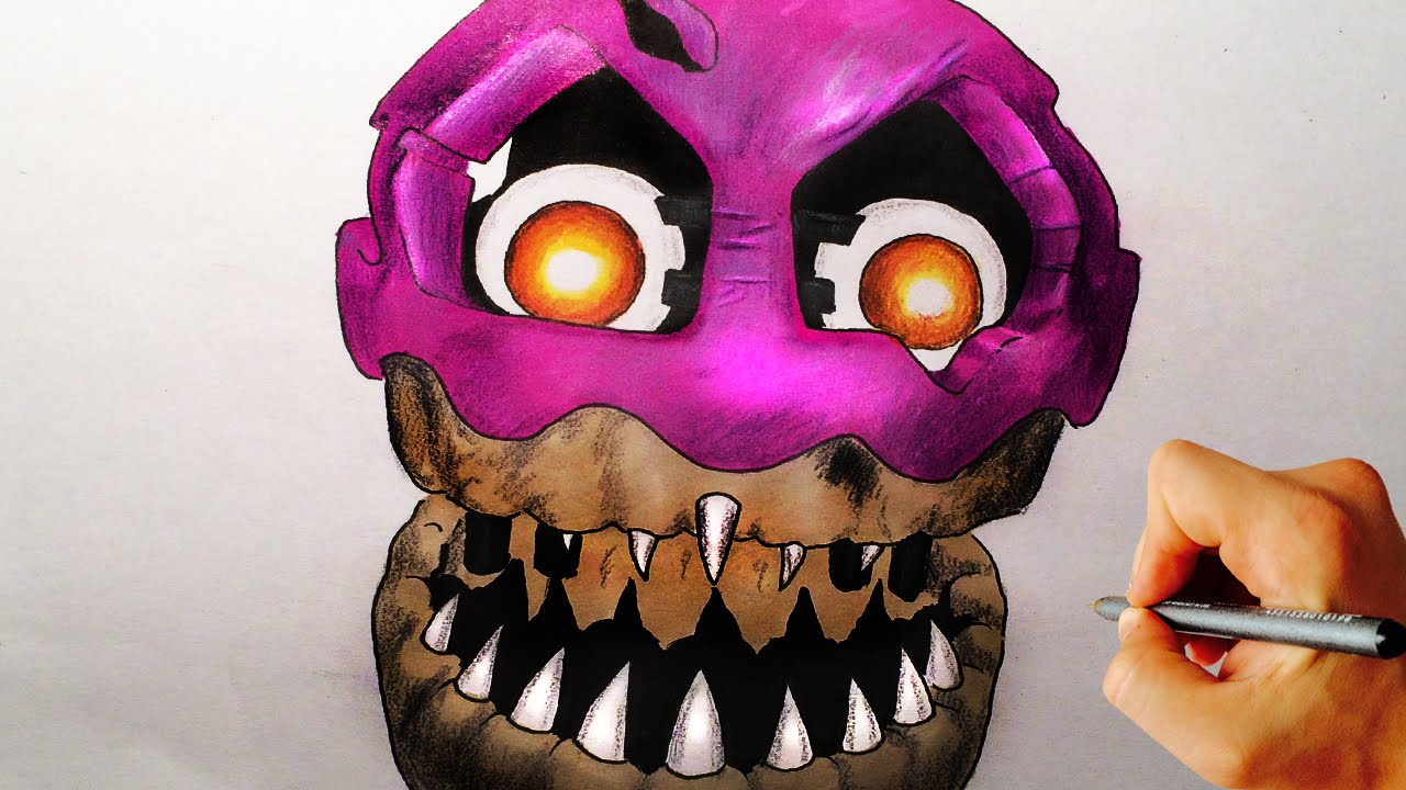how to draw nightmare cupcake from five nights at freddys 4 fnaf 4 drawing lesson