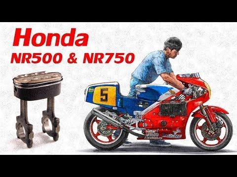 Мотоцикл с Овальными поршнями - Honda NR500 & NR750