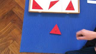 Montessori Sensorial - Learning triangle names