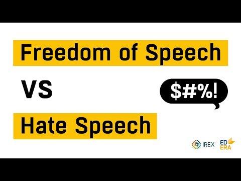 Hate speech VS Freedom of speech | Very Verified: Online Course on Media Literacy