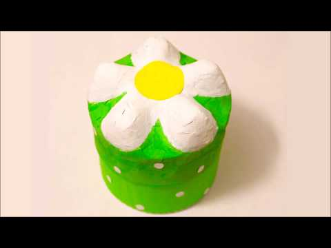 Daisy Flower Box From Plastic Bottle 🌼 Subscribe 🌼