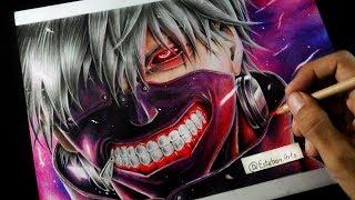 Tutorial de como dibujar a Kaneki Ken con mascara   Tokyo Ghoul - Esteban Art