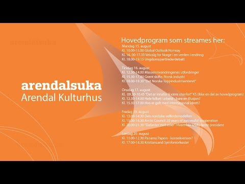 Arendalsuka 2016 - Arctic Council, 20 years of successful cooperation