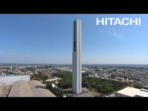 New Elevator Research Tower - G1TOWER - Hitachi