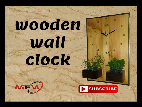 EPOXY FILLED WOODEN WALL CLOCK
