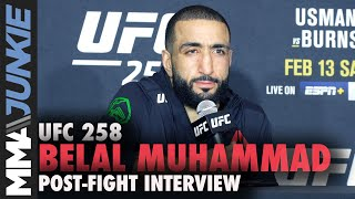 Belal Muhammad aims to climb rankings 'one by one' until title | UFC 258 post-fight