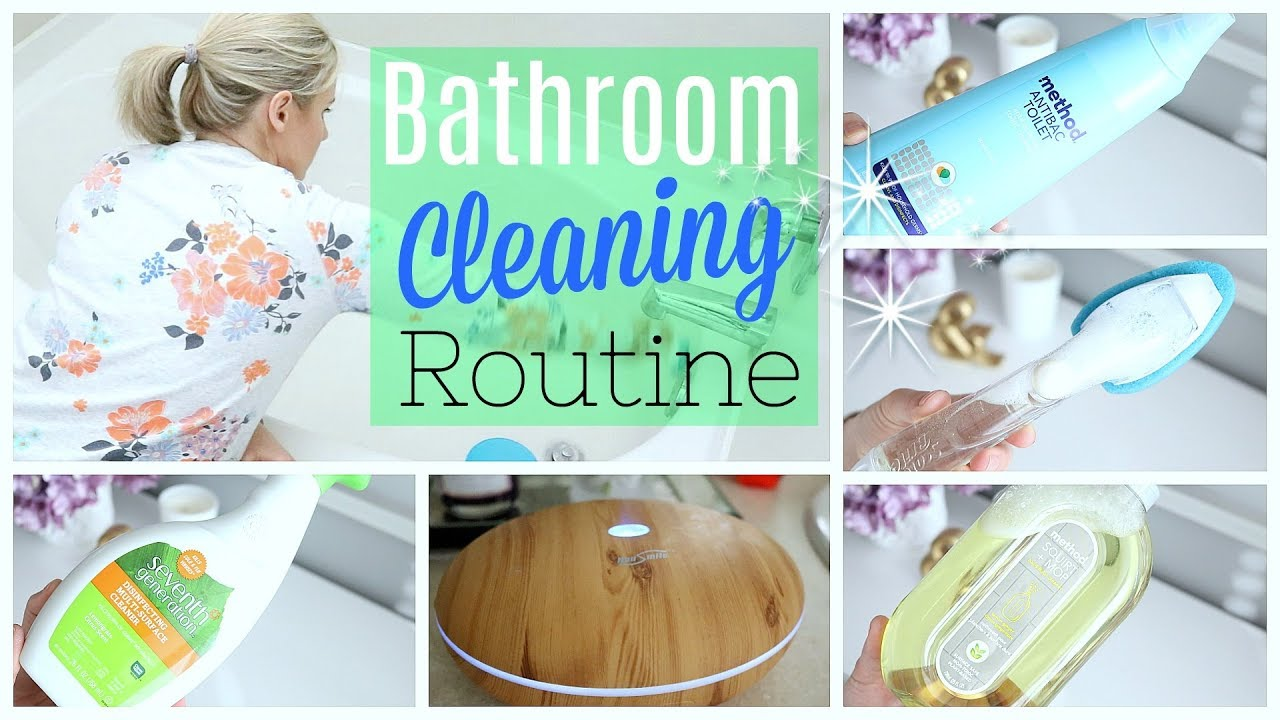 MY BATHROOM CLEANING ROUTINE USING NATURAL PRODUCTS HOW TO MAKE - Natural cleaning products for bathroom