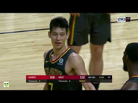 Jeremy Lin's Offense & Defense Highlights 2018-10-13 Hawks VS Heat