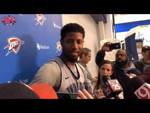 Thunder Practice: Paul George pre-Thunder vs. Warriors 10.15.18
