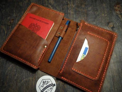 Работа с кожей. Экспериментальная модель. Leather hand made wallet