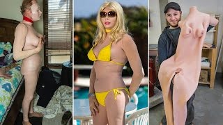 Meet creator of bizarre rubber female body suits that let men live as plastic dolls