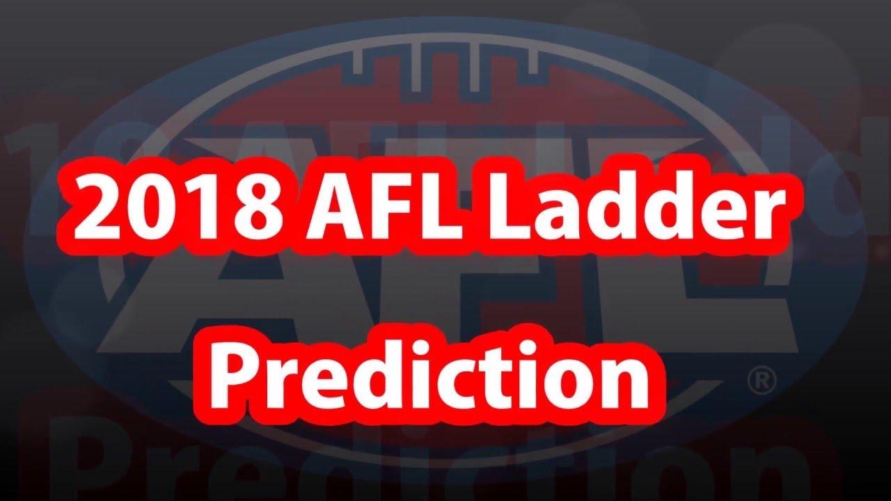 2018 Afl Ladder Prediction Youtube