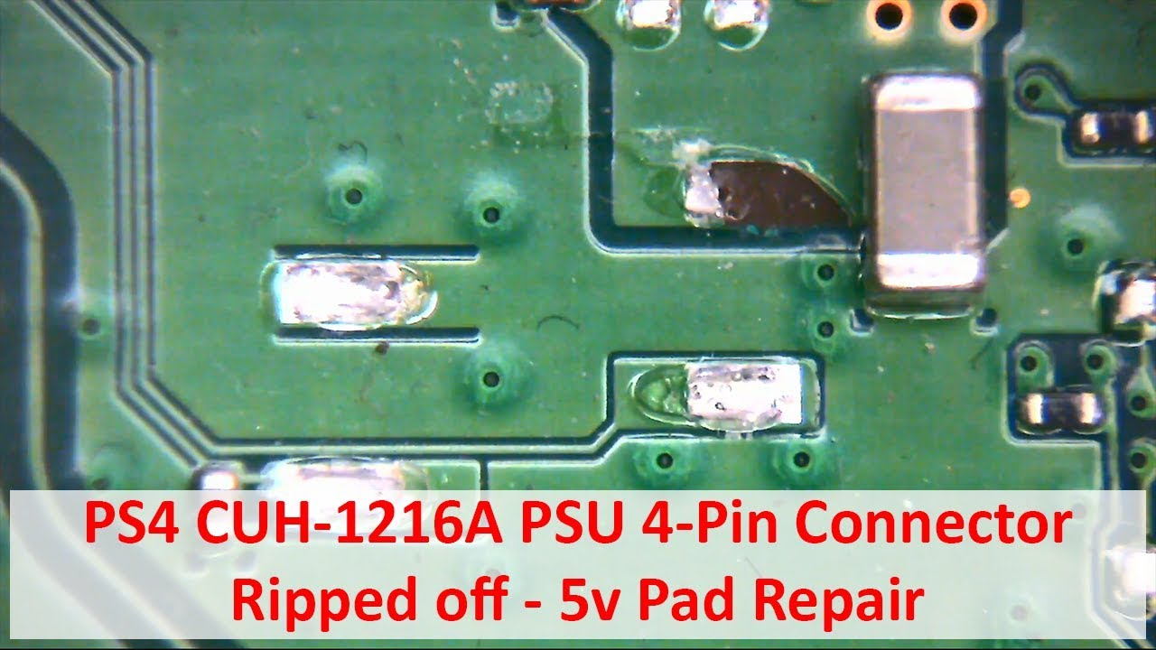 ps4 remote wiring diagram ps4 cuh-1216a psu 4-pin connector ripped off - 5v pad ...