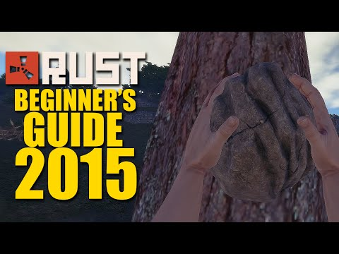 Rust For Dummies - (Beginner's Guide Part 1) Getting Stone, Ore Wood And Building Your First Base