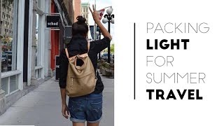 Pack Light for Vacation + 9 Summer Travel Outfit Ideas   Slow Fashion Lookbook