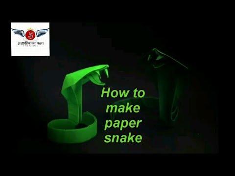 #oragami #papercraft #snake #DIY How to make paper snake/oragami snake:DIY