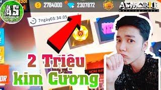 [Garena Free Fire] Thử Thách Phá Hết 2 Triệu Kim Cương | AS Mobile