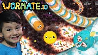 Wormate.io Gameplay | Gusanos y Dulces de Colores | Juego para niños