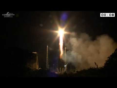 Soyuz lifts off from French Guiana with two Galileo FOC spacecraft