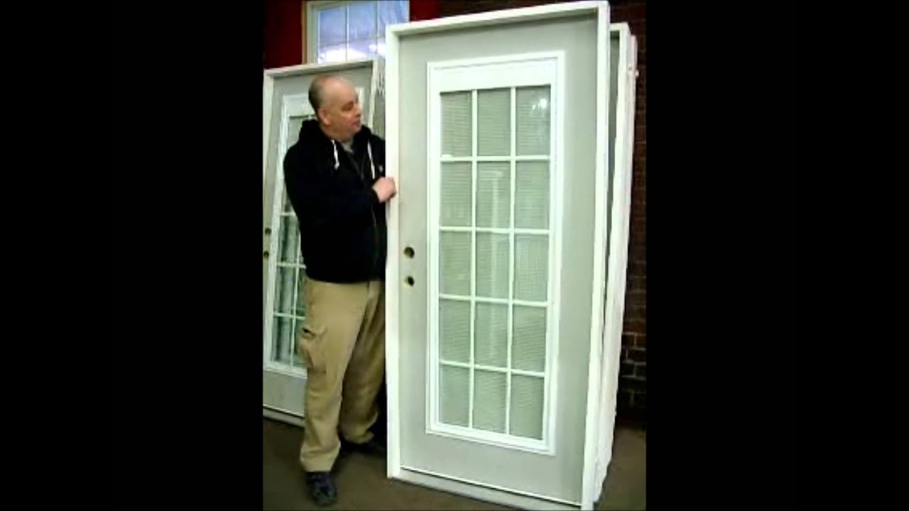 Fullview Exterior Door With Mini Blinds   YouTube