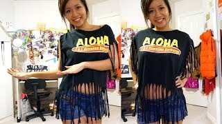 Fringe Crop Top Tutorial - Salina x L&L Hawaiian BBQ