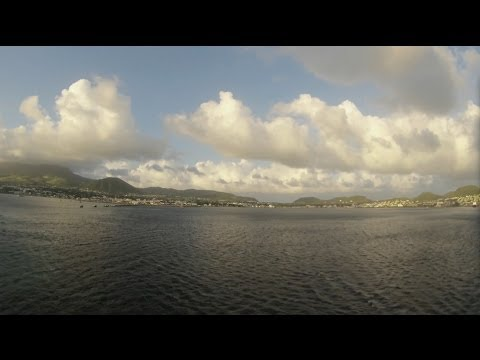 Basseterre, St. Kitts - Independence of the Seas Departure Time Lapse HD (2013)