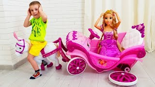 Max Pretend Play with Princess carriage and new car