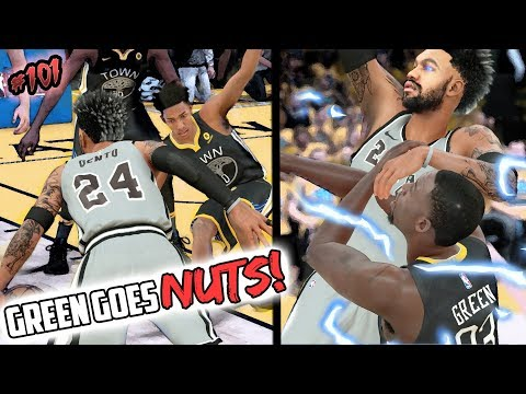 DRAYMOND GREEN GOES NUTS! TOO MANY ANKLE BREAKERS! NBA 2k18 MyCAREER Ep 101