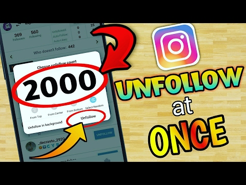 How To Unfollow Everyone On Instagram At Once In Hindi 2017 | Trusted Unfollow App For Instagram