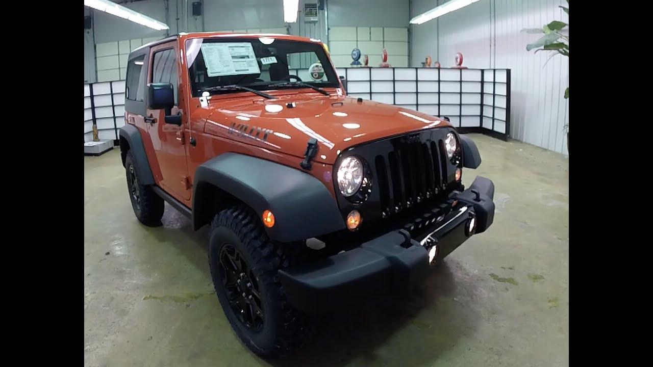 2015 jeep wrangler willys wheeler sunset orange black grille new jeep for sale 17717 [ 1280 x 720 Pixel ]