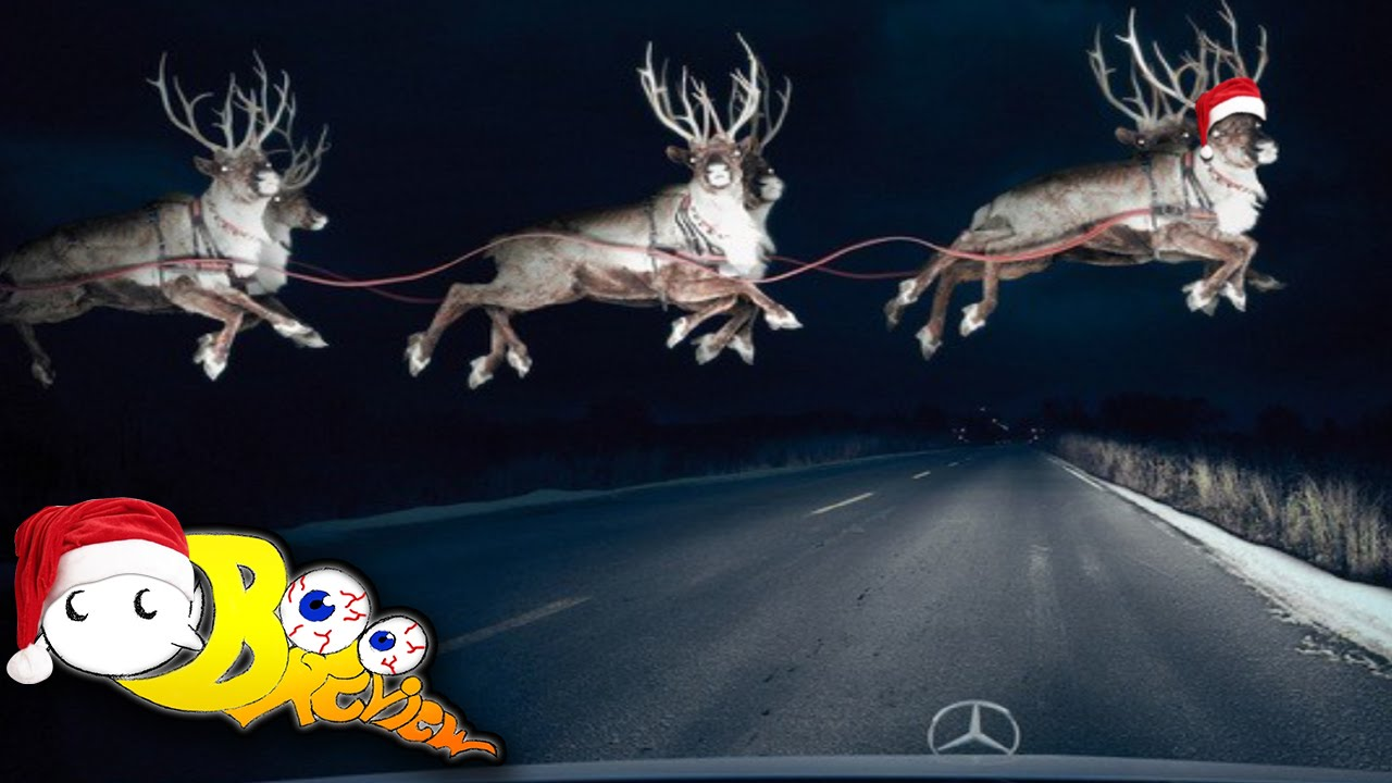 santas reindeer caught on tape 12 days of fan suggestions 11 youtube - Santa With Reindeer Pictures