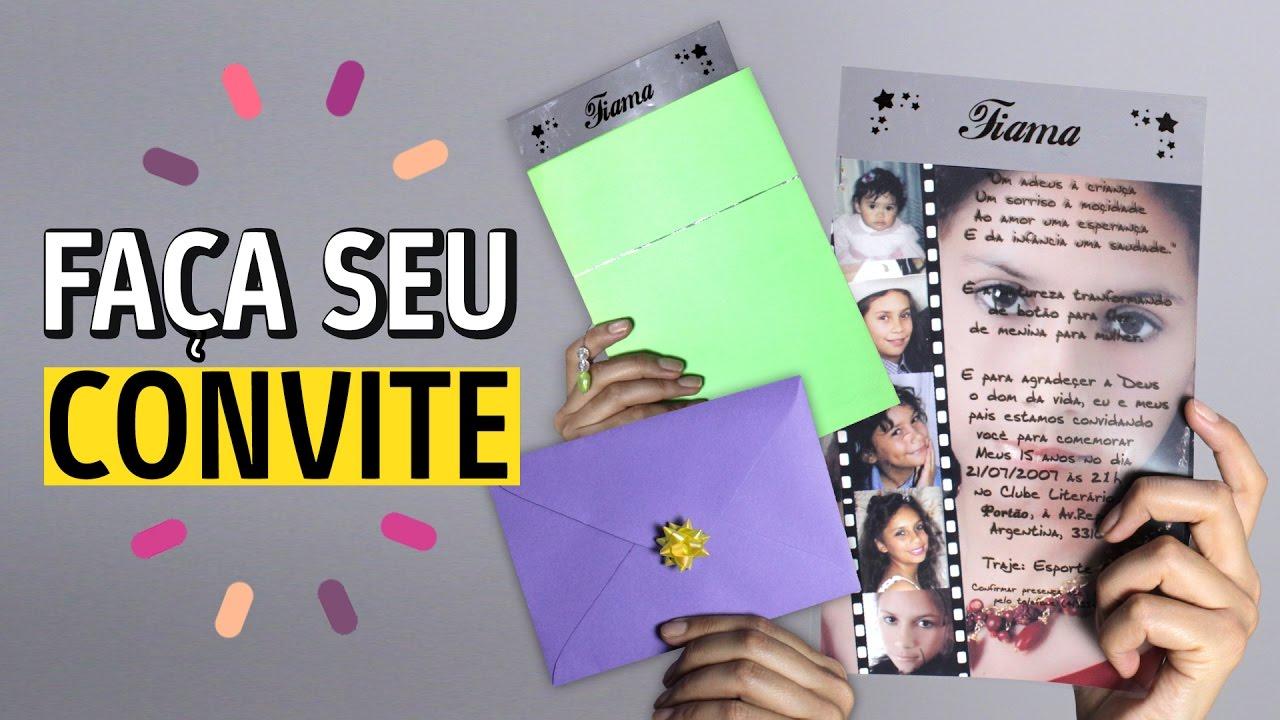 Ideias Para Convite De 15 Anos: FAÇA SEU CONVITE DE CASAMENTO E 15 ANOS EM INSTANTES