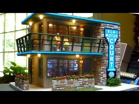 An O Scale Mid-Century Motel Scratch Build Part 4 – Lighting, Stonework, Completing Assembly