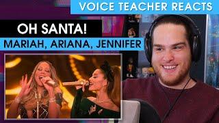 Voice Teacher Reacts to Oh Santa! - Mariah Carey ft. Ariana Grande and Jennifer Hudson