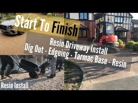Resin Driveway Full Walkthrough, Prep, Groundworks, Block Edgings, Tarmac Base And Resin Bound.