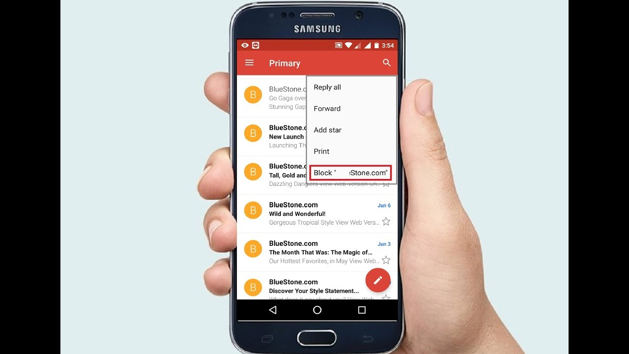 How to Block Emails On Gmail In Android Phone & Tablet Easy