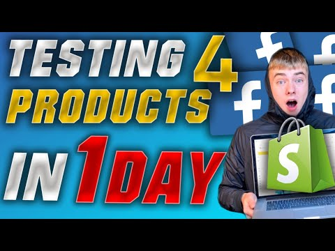 Watch Me Testing 4 Dropshipping Products In 1 Day With Facebook Ads (Insane Results With Shopify) thumbnail
