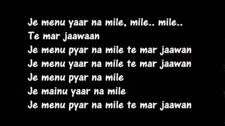 Download lagu Yaar Na Mile karaoke MP3