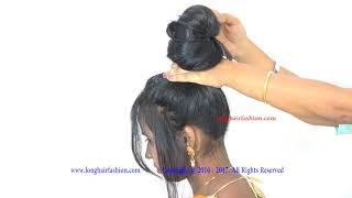 Bun Grabbing & Shaking Long Hair Play Massage