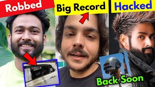 YouTuber Got Robbed...Ashish Chanchlani Big Record...Amir Siddiqui Insta Hacked... PUBG Back Soon?