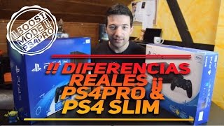 PS4 PRO VS PS4 SLIM  | DIFERENCIAS REALES - BOOST MODE 4.50 - 2017