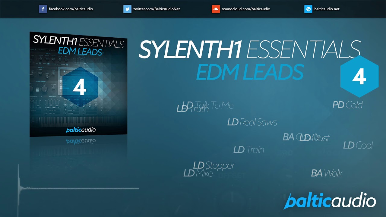 Sylenth1 Essentials Vol 4 - EDM Leads (56 Sylenth1 Presets, 21 MIDI Files)