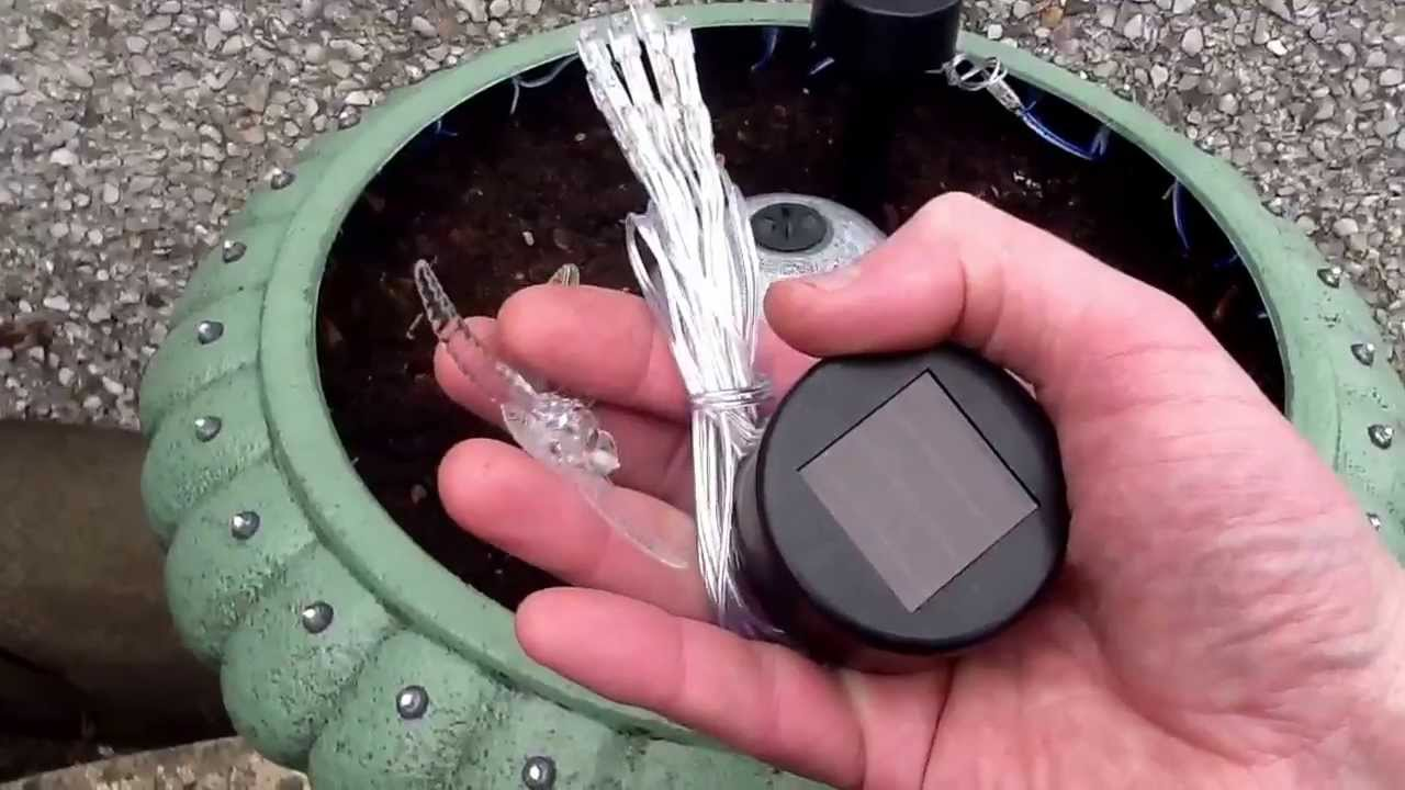 Solar Powered Garden Planter Youtube