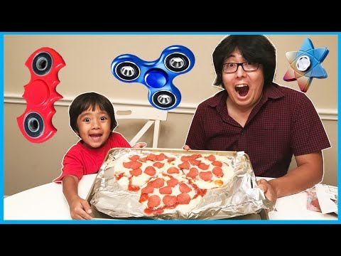 DIY GIANT FIDGET SPINNER PIZZA and Fidget Spinners Collectio