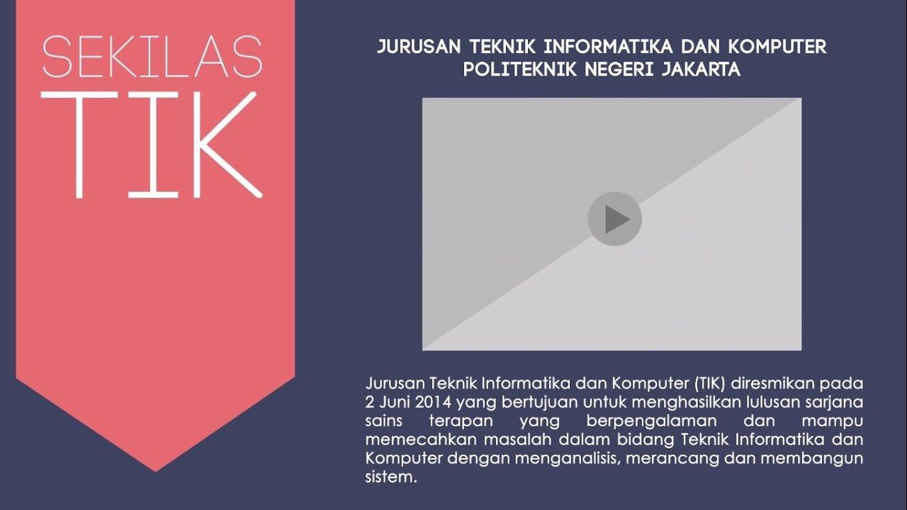 Video Profile Jurusan Teknik Informatika Dan Komputer