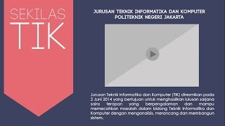 Video Profile Jurusan Teknik Informatika dan Komputer - Politeknik Negeri Jakarta
